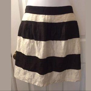 Ann Taylor LOFT Black White Striped Mini Skirt
